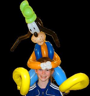 goofy balloon art