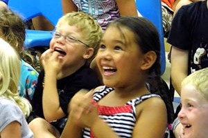 magic show children laughing